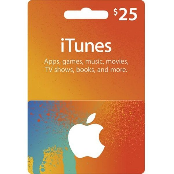 iTunes 25 USD Gift Card for US Account
