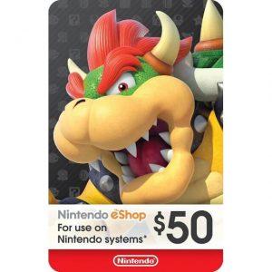 Nintendo eShop Card 50 USD for US Account