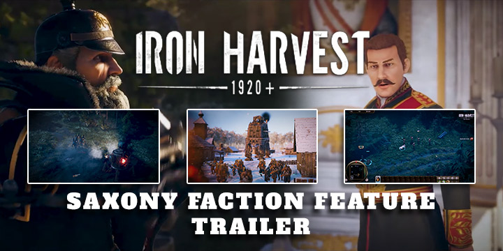 The Iron Harvest introduces the characteristics of the Saxon factions