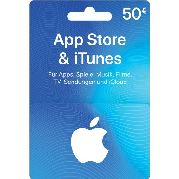 iTunes 50 EUR Gift Card for Germany Account