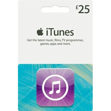 iTunes 25 GBP Gift Card for UK Account
