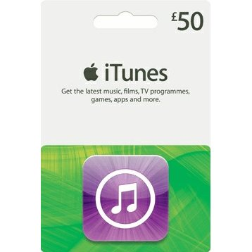 iTunes 50 GBP Gift Card for UK Account