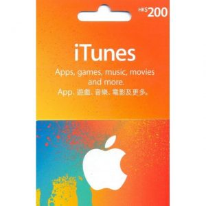 iTunes 200 HKD Gift Card for Hong Kong Account