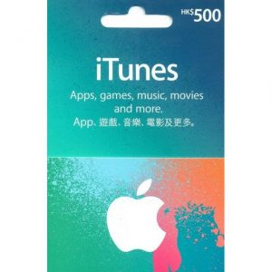iTunes 500 HKD Gift Card for Hong Kong Account