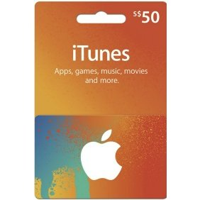 iTunes 50 SGD Gift Card for Singapore Account