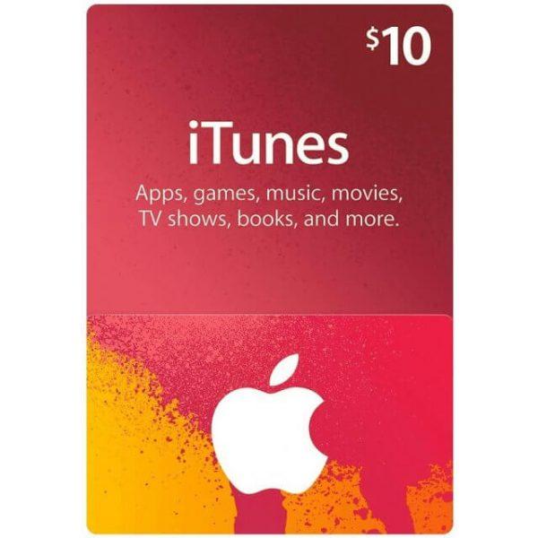iTunes 10 USD Gift Card for US Account